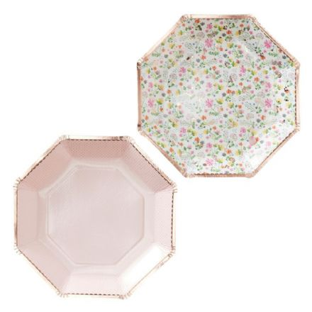 Ditsy Floral Paper Plates - pack of 8